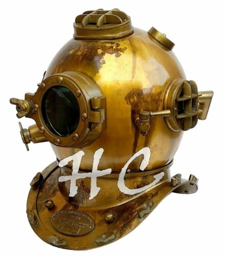 U.S Navy Mark V Deep Sea Antique Marine Maritime Divers Diving Helmet Scuba