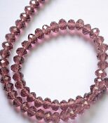 Faceted Crystal Rondelle Bead 8mm