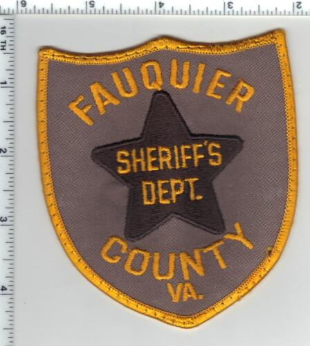 Fauquier County Sheriff (Virginia) Small Uniform Take-Off Shoulder Patch 1980