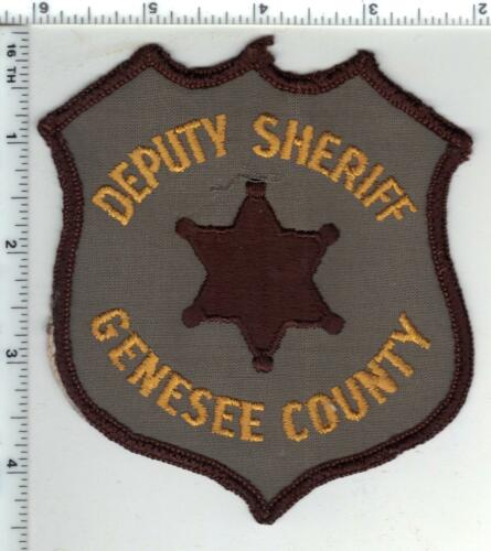 Genesee County Sheriff (Michigan) Uniform Take-Off Shoulder Patch early 1980