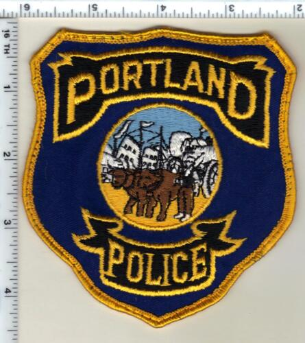 Portland Police (Connecticut) Uniform Take-Off Shoulder Patch - early 1980