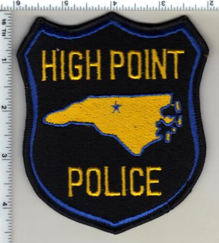 High Point Police (North Carolina) Uniform Take Off Shoulder Patch from 1980