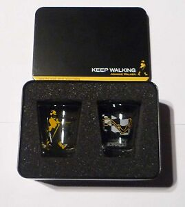 JOHNNIE-WALKER-Clear-Shot-Glass-F1-MONACO-Monte-Carlo-2006-Grand-Prix-Metal-Box