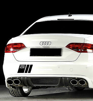 Audi A3 A4 A5 A6 A8 S4 S5 S6 RS4 Q7 TT S-Line Decal sticker emblem logo BLACK