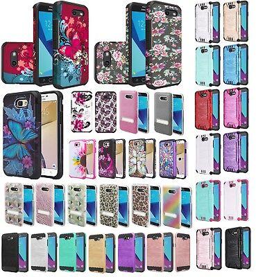 Samsung Galaxy J7V Slim Hybrid Hard Case Shockproof Cell Phone Cover Verizon Verizon Cell Phone Cover