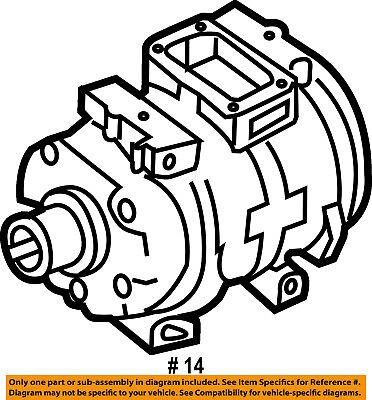 CHRYSLER OEM-A/c Compressor 55111034AB