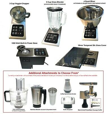 3 in 1 BUILT-IN Mixer + Blender + Chopper: Also Replaces Nutone Food Center 251