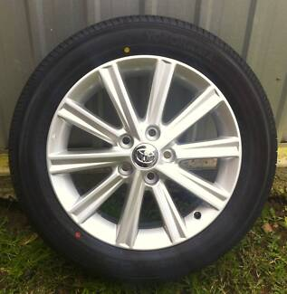 """Toyota Camry 17"""" Alloy Wheels And Tyres 5X Genuine Factory Wheels Craigieburn Hume Area Preview"""