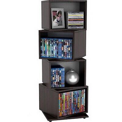 Cd Tower Rack Dvd Holder Media Storage Shelf Case Display Space Organizer Spins