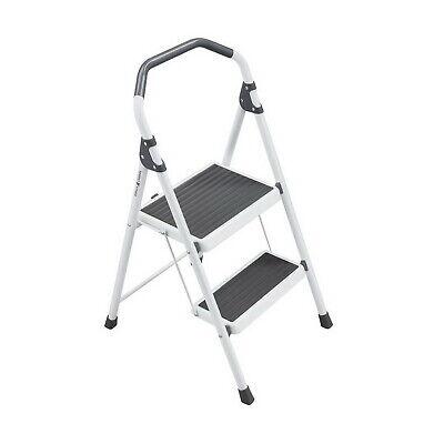 Gorilla 2-step Steel Lightweight Stool Ladder 225 Lbs Load Cap Type Ii Duty New