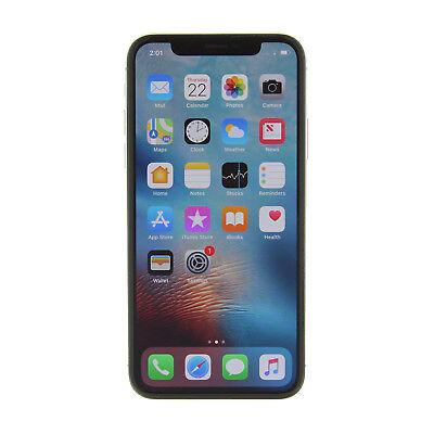 Apple iPhone X a1901 256GB Silver GSM Unlocked -Very Good