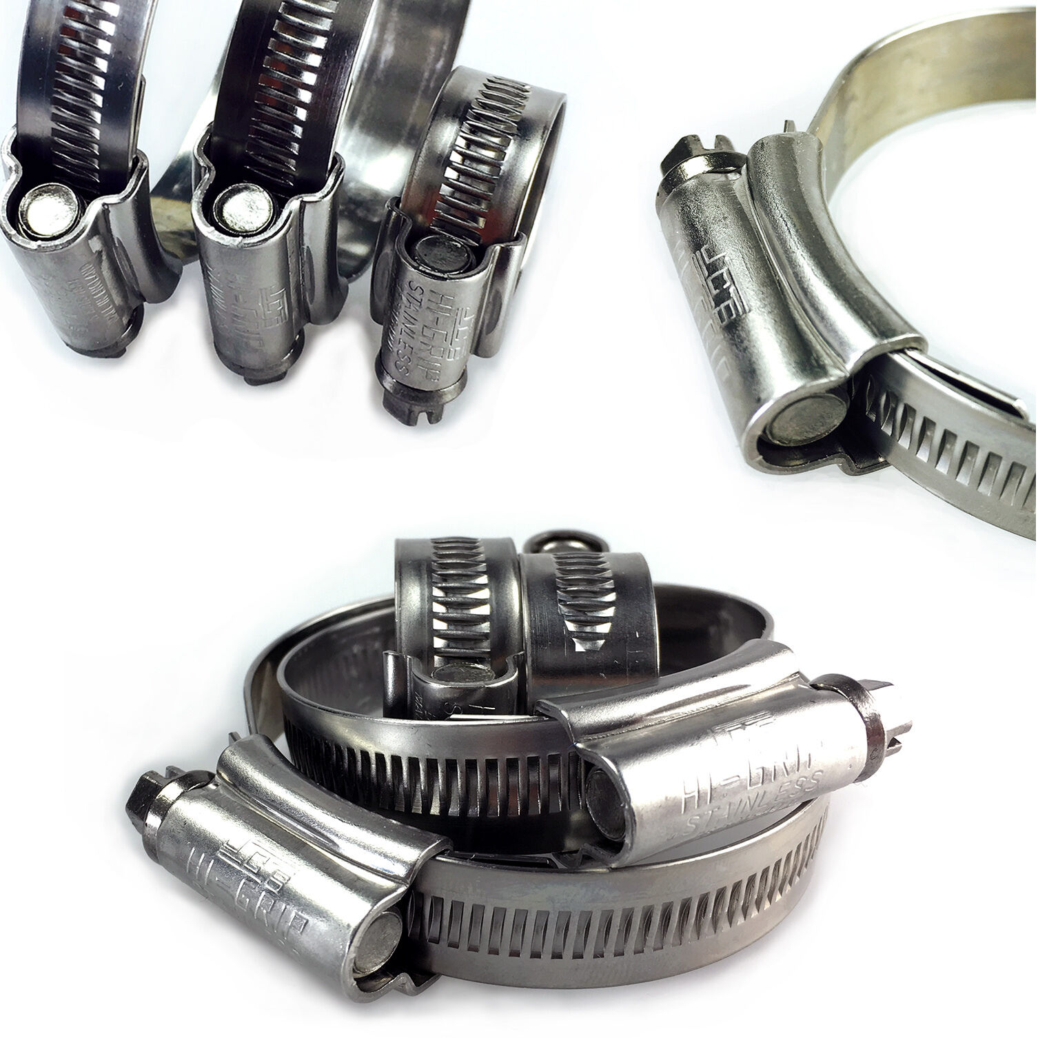 Handy Pack of Assorted Sizes 3 x Jubilee Hose Clips//Pipe Clamps with Thumbscrew