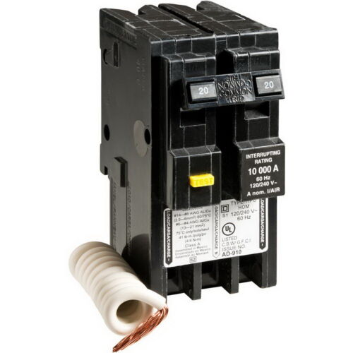 Square D by Schneider Electric HOM220GFIC Homeline 20 Amp Two-Pole GFCI Circuit