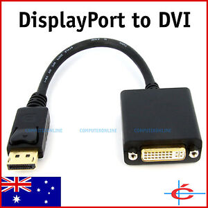 DP Displayport Display Port Male To DVI Female Adapter Cable 20cm Brand New