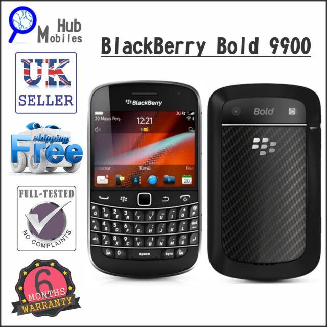 BlackBerry Bold 9900 - 8GB - Black (Unlocked) Smartphone - Grade A