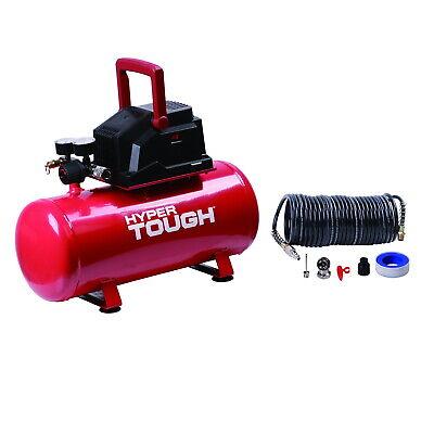 Portable Air Compressor 3 Gallon Hotdog Home Garage Oil Free Pump Durable Car