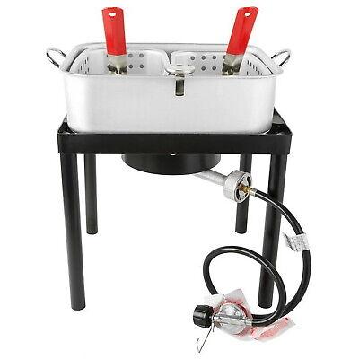 Commercial Outdoor Liquid Propane Deep Fryer Portable Gas Aluminum Cooker New