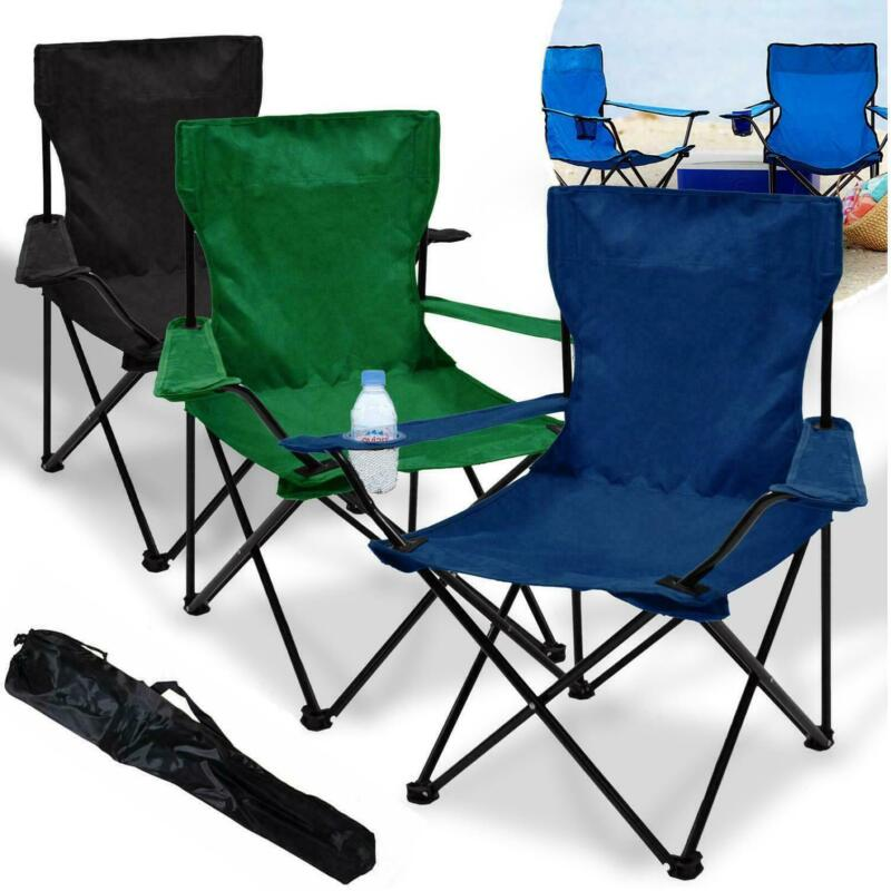 2x+Folding+Outdoor+Chair+Camping+Garden+Fishing+Seat+Furniture+Portable+Foldable