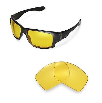 Walleva Yellow Replacement Lenses for Oakley Big Taco Sunglasses