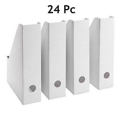 24 Ikea Fluns Magazine File Holders Office Paper Organizer Storage White New
