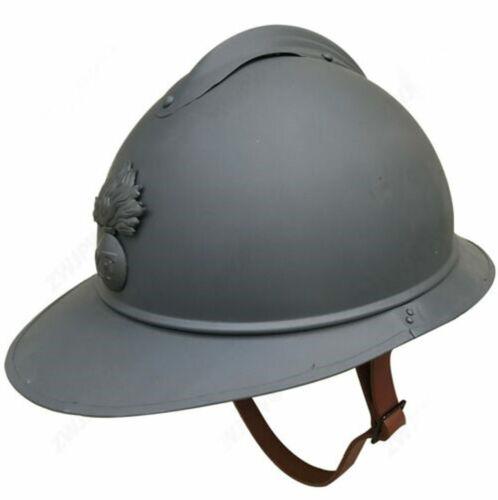 WWII France Army M1915 Steel Helmet