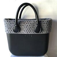 Borsa O Bag Mini Nera+manici Corti Neri+bordo Feltro Bicolor Bordeaux-  - ebay.it