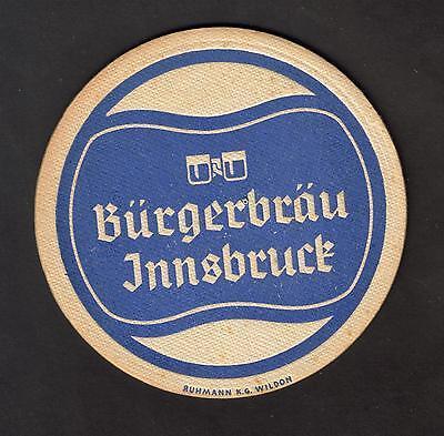 Alter BD - Bierdeckel-Coaster, Bürgerbräu Innsbruck / Österreich m. Impressum