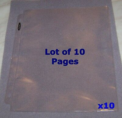 """10 1-POCKET 8.5""""x11"""" COUPON PAGES HOLDER SHEETS NEW! FOR 3-RING ALBUM BINDER"""