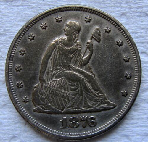 1876 20c Twenty Cent Piece AU Details