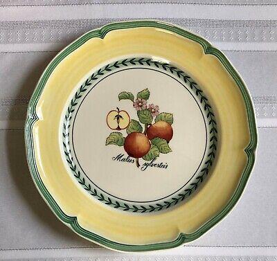VILLEROY & BOCH French Garden VALENCE APPLE Dinner Plate Fruit Yellow 10 1/4 EUC