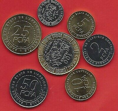 Cent.African states  Reeks van 7 munten  2006 **1 t/m 100 Francs **