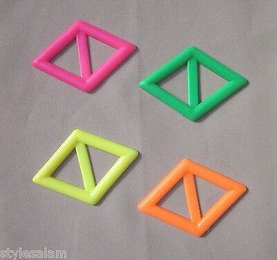 Tee shirt clip pull holder tie diamond shape neon green pink orange yellow - Tee Shirt Clips