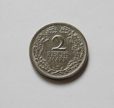 WEIMAR: 2 Reichsmark 1926 D, J. 320, sehr schön !!!  II.