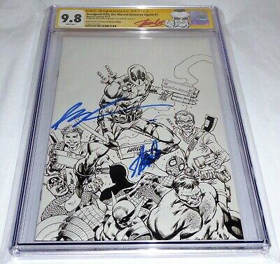 Deadpool Kills the Marvel Universe Again #1 CGC SS LIEFELD STAN LEE Signature 🔥