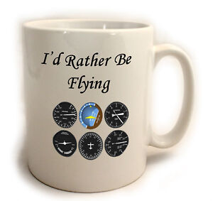 I'd rather be Flying 11oz Mug ideal for pilots, glider, cessna, aviation lovers
