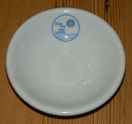 """Dudson Brothers China 3 7/8"""" Butter Pat Blue Sky Hotel Rhodes"""