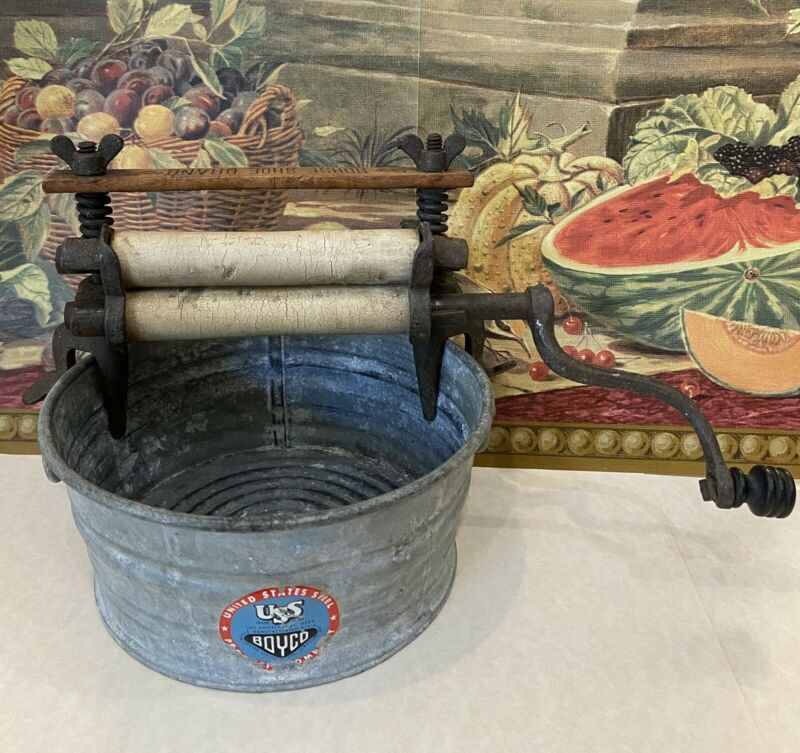 Salesman Sample Horseshoe Brand No. 2 Gem Wringer Washer Tub Antique Toy NY AAFA