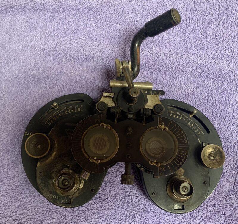 Rare Antique General Optical Co Genothalmic Refractor Phoropter Patent 1917
