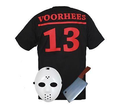 Mens Scary Jason Voorhees Halloween Tshirt & Mask Custom Horror T Shirt ()