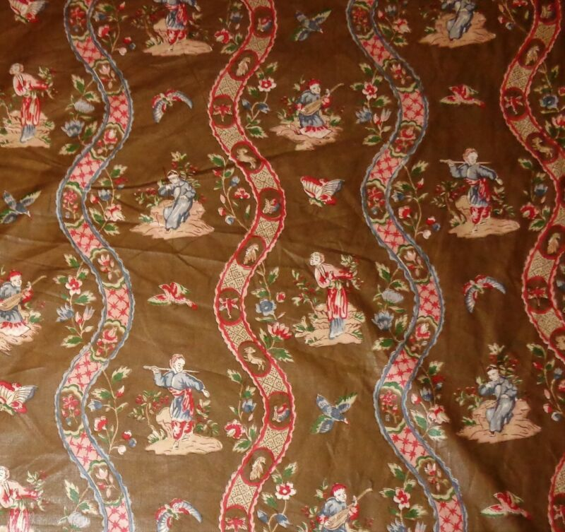 Xian for Antica Chinese Asian Toile 24 yds Fabric Polished Cotton