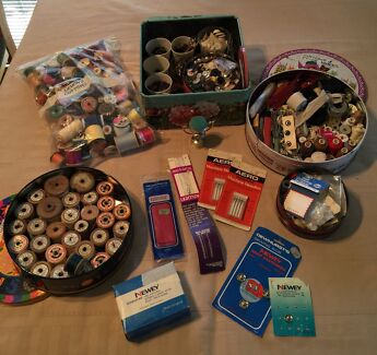 Assorted Dressmakers Cottons, Buttons & Pins Edgeworth Lake Macquarie Area Preview