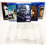 50 Box Protectors For Blu-Ray / HD DVD  Custom Made Clear Cases / Sleeves Bluray