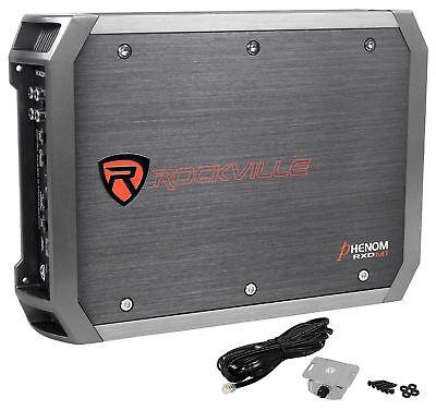 Rockville RXD-M1 2000 Watt/1000w RMS Mono Class D 1 Ohm Amplifier Car Audio Amp ()