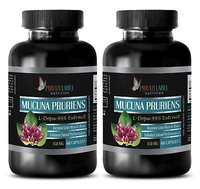 Mucuna nervine tonic - MUCUNA PRURIENS 350MG - calm down supplement - 2B - Nervine Tonic