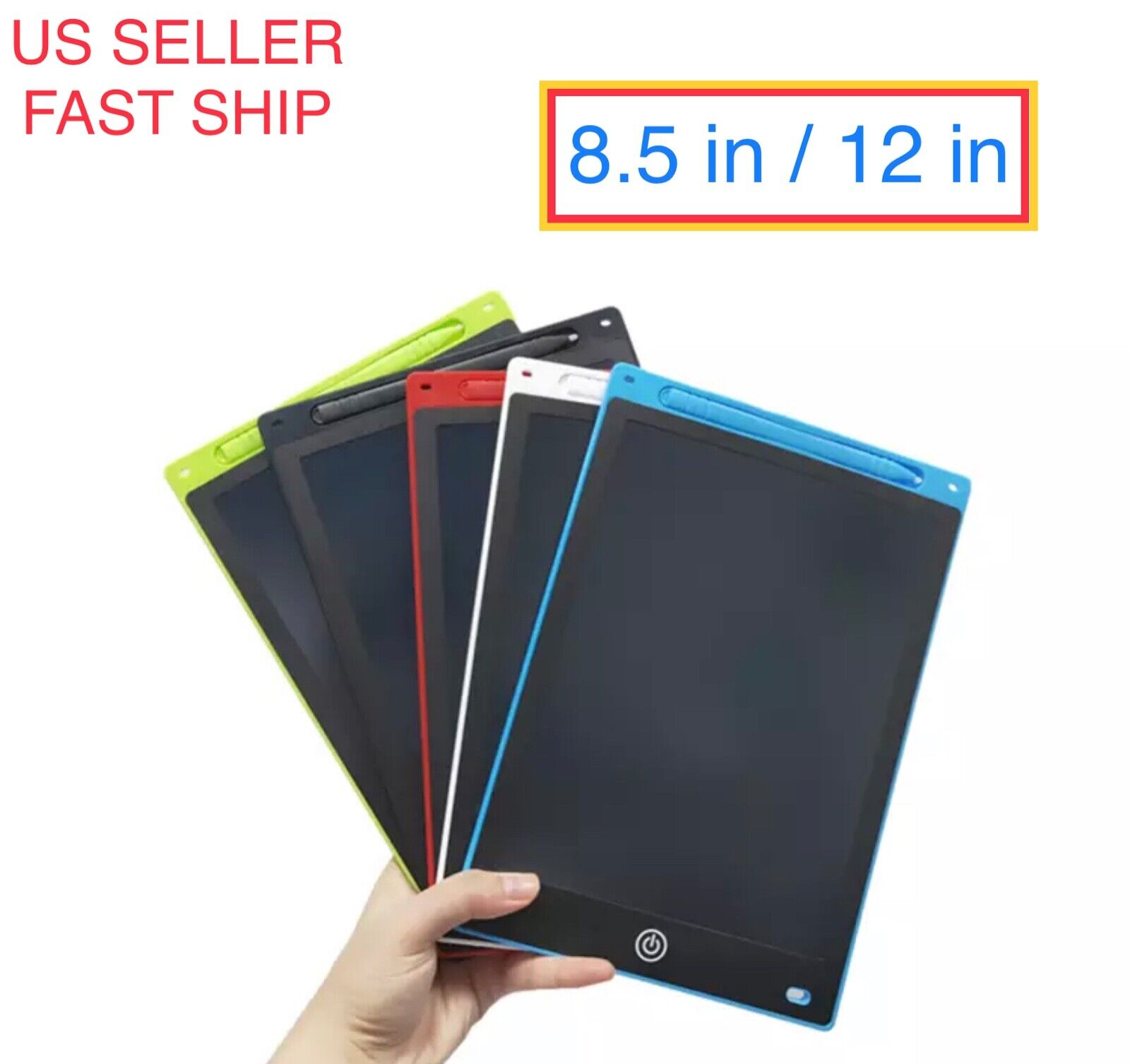 "8.5'' 12"" inch LCD Writing Drawing Tablet Pad eWriter Notepa"