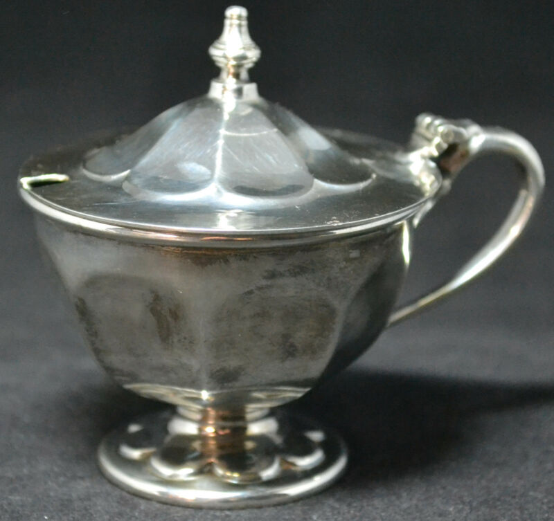#2519 - E. Viners Sterling Mustard Pot - No Engravings
