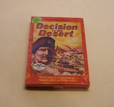Decision in the Desert by MicroProse for Atari 400/800 - NEW