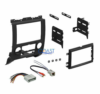 Ford Double Din Kit - Single Double DIN Stereo Car Dash Kit + Harness 2008-2011 Ford/Mercury/Mazda