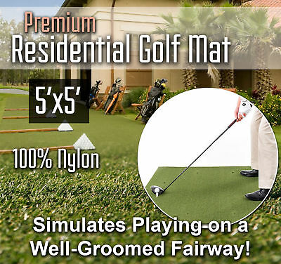 Premium Residential Golf Mat - 5 feet x 5 feet