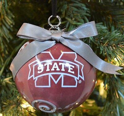 Mississippi State Bulldogs Ceramic (Mississippi State Bulldogs Ceramic Ball Christmas Ornament )